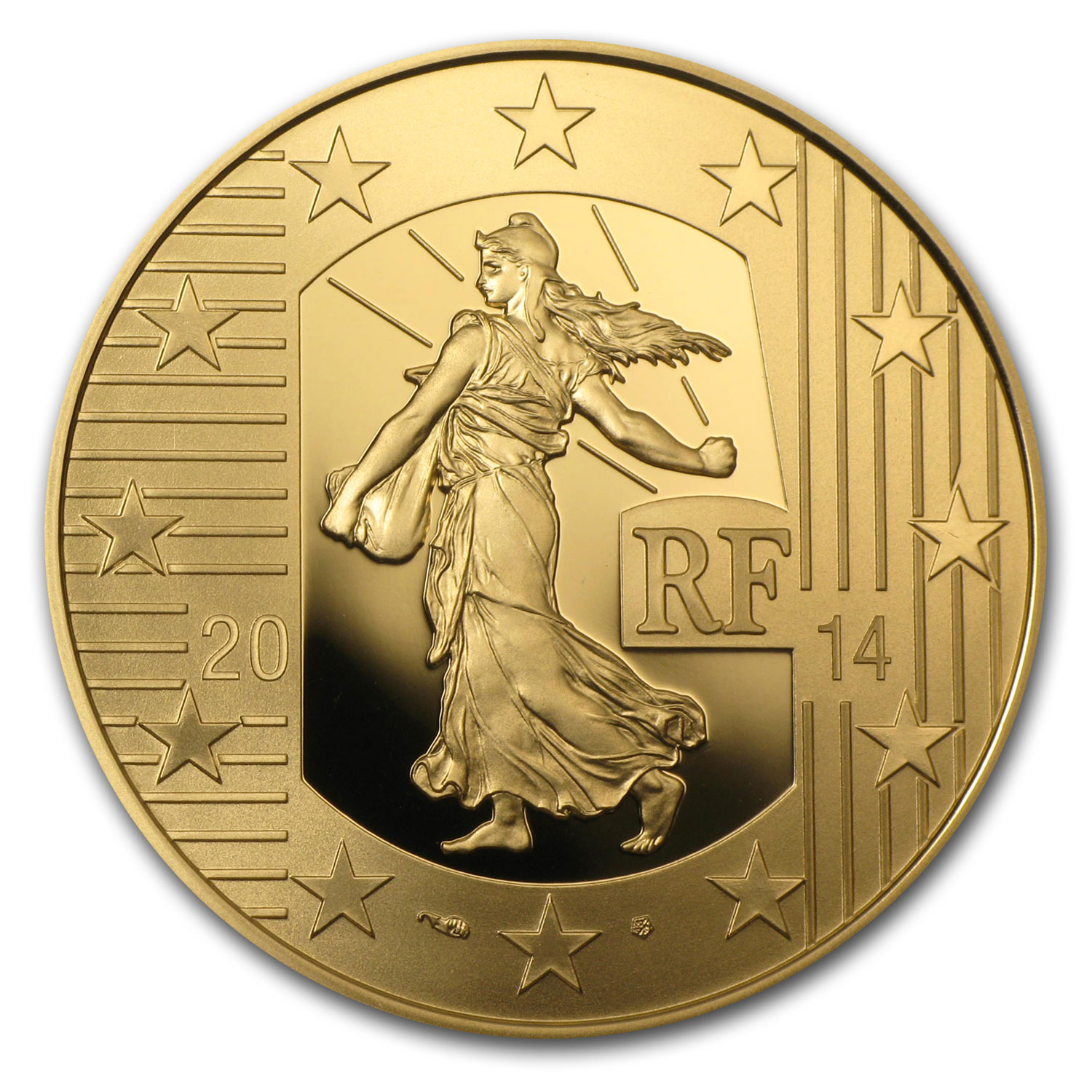 2014 1/2 oz Gold Proof The Sower - The Denier of Charles the Bald